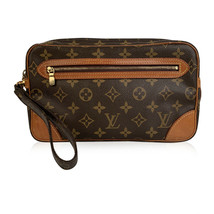 Authentic Louis Vuitton Vintage Monogram Marly Dragonne Clutch Pochette Bag - $292.05
