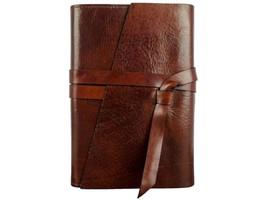 DARK BROWN LEATHER JOURNAL - P.S. I LOVE YOU - $78.00
