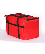Resturant linen Insulated Nylon Food Delivery Bag , 23in x 13in x 15in, Red - $27.99