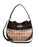 Burberry 3882406 Medium Willenmore Haymarket Check Ladies Hobo Bag - $649.00