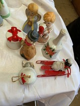 Lot of 7 Assorted Vintage Porcelain Collectible Christmas Bells - $8.36