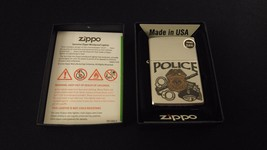 POLICE Classic Zippo Lighter Boxed Collectible Z279 Police Patrol Officer ~ USA - $25.00