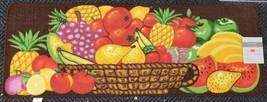 "EXTRA LONG PRINTED NYLON RUG RUNNER (nonskid)(18"" x 48"") FRUITS IN BASKE... - $19.79"