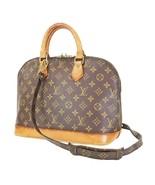 Authentic LOUIS VUITTON Alma Monogram 2-Way Hand Shoulder Bag Purse #35528 - $529.00