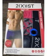 2(X)IST ~ 3-Pair Mens No Show Trunks Underwear Speed Dri Mesh No Show Le... - $18.69