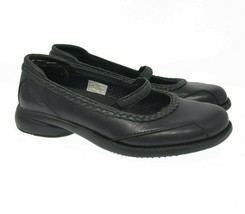 MERRELL Womens Sz 6.5 EU 37 Black Leather Slip On Comfort Mary Jane Shoe... - $32.99