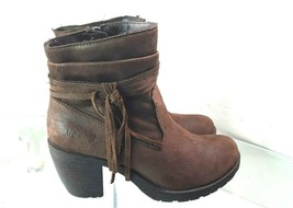 Born B.O.C Boots Womens Size 7.5 Brown  Zip Fringed Ankle Boots  - €42,06 EUR