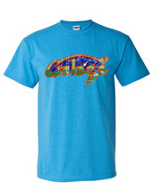 Galaga T-shirt Fee Shipping arcade vintage style distressed heather blue tee image 1