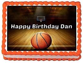 Basketball Theme Edible Cake Topper Image -- 1/4 Sheet - $9.99