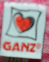 Ganz Brand HV9105 Pink Spotted Plush Chewey Style Leopard With Heart image 5
