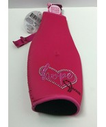 "Novelty Breast Cancer Pink ""Hope""Printed Neoprene Bottle Insulator+Bottl... - $11.87"