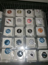 Huge Lot Of Craft Embellishment Flat Back Pins Ephemera Organized In Bin... - $46.74