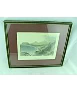 1842 Bartlett print KILLINEY BAY, COUNTY DUBLIN, IRELAND FRAMED UNDER GLASS - $34.65