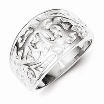 STERLING SILVER SWIRL DESIGN  RING -  SIZE 6 - £26.13 GBP