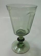 Lenox Green Antique pattern goblet lead Crystal Made in USA - $8.60
