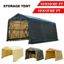 10'x10'x8'/10'x15'x8'FT Storage Shed Tent Shelter Car Garage Steel Frame... - $199.99+