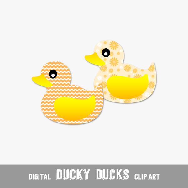 Digital Clip Arts Yellow Ducklings - Print or Digital Scrapbook (PU & CU)
