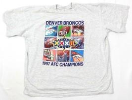 27.4ms Tour Champ Hombre Camiseta Broncos de Denver 1997 Vintage Super Bowl - $26.93