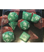 Role Playing Dice 7 Piece Dice Set Pearlescent GREEN Classic Games D20 d... - $10.78