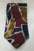 "Oscar De La Renta Neck Tie Mens Abstract Red Blue Gold White 57"" Necktie... - $8.90"