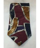 """Oscar De La Renta Neck Tie Mens Abstract Red Blue Gold White 57"""" Necktie... - $8.90"""