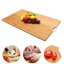Extra LARGE Carbonised Kitchen Bamboo Cutting Chopping Board With Hook K... - $100.30