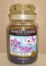 Yankee Candle Sweet Violet Rare 22 Oz Large Jar White Label Housewarmer ... - $75.00