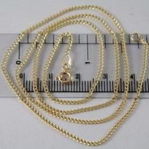18K YELLOW GOLD CHAIN MINI GOURMETTE LINK 1 MM, 19.70 INCHES MADE IN ITALY image 1
