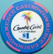 $1 Casino Chip. Commerce Casino, Commerce, CA. V69. - $4.29