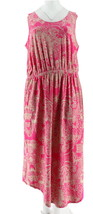 Liz Claiborne NY Rounded Hem Knit Maxi Dress Magenta Pink S NEW A254862 - $29.68