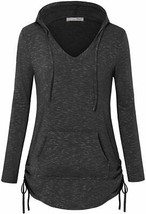 Messic Women's Long Sleeve Tunic Hoodies Casual Pullover Sweatshirt with... - $63.13