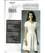 Vogue Pattern V9046 Claire Sharffers Couture Collection Dress Szs 8-16  New - $6.93