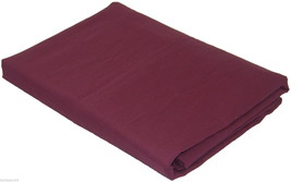 DOUBLE BED LINEN AUBERGINE QUALITY 76/68 PICK COTTON FITTED SHEET - $13.11