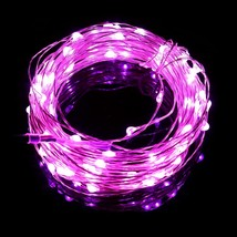 100 LEDs Copper Wire String Fa color PINK size EU PLUG - $17.75
