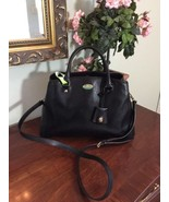 Coach Margot Bag F34607 Carryall Satchel Black Textured Leather Day Purs... - $118.79