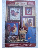 NEW Fiber Mosaics Cock-a-Doodle Rooster Quilts Pattern Pillow Gift Bag A... - $5.99