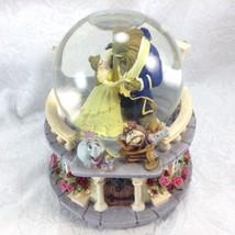Beauty & the Beast Snowglobe Music Box Musical Figurine Disney Musical - $63.00