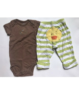 Boy's Size 3M 0-3 Months Two Piece Carter's Brown Alligator Top, Ducky P... - $13.00