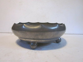 VINTAGE PILGRIM SOLID PEWTER TULIP BULB PLANTER OR SERVING BOWL - $9.99