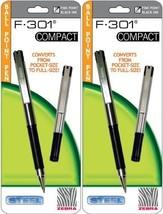 4 Zebra F-301 Compact Ballpoint Pens (2 Packs of 2), Black - $12.93