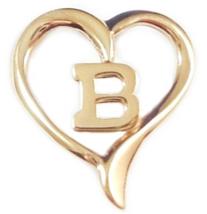 Little Initial B Heart Pendant Goldtone - $3.99