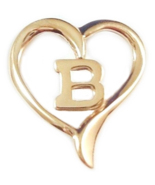 Little Initial B Heart Pendant Goldtone - $3.99