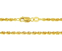 SOLID 18K YELLOW GOLD 2.2 mm ROPE CHAIN, 18 INCHES, BRAIDED, MADE IN ITALY image 1