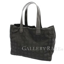CHANEL Tote Bag MM Nylon Black New Travel Line A15991 Italy Authentic 55... - $683.67