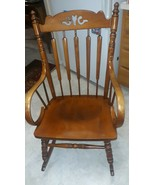 Tell City Chair Co. Andover Maple Rocker Rocking Chair #638 ... made in ... - $222.75