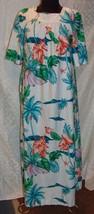 Hilo Hattie M House Dress Womens Hawaiian Muu Muu Floral Bird of Paradis... - $35.54