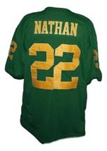 Tony Nathan Woodlawn Movie New Men Football Jersey Green Any Size image 5