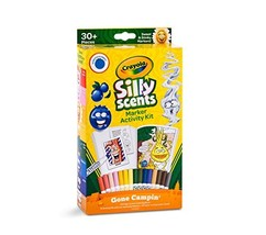 Crayola Silly Scents Marker Activity, Coloring Book and Markers, Stockin... - $11.29