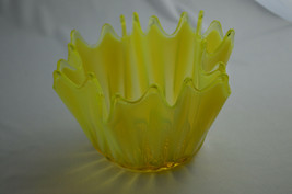 Fostoria Heirloon Opalescent Vaseline Yellow Bowl - $49.50
