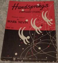 Vintage Sheet Music - Hand Springs - 1961 Edition - VGC - Mark Nevin - $5.93